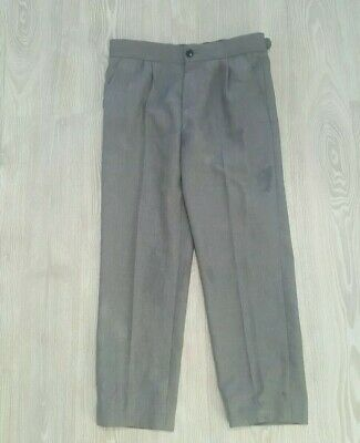 M and S boys grey formal trousers 9 to 10 great condition