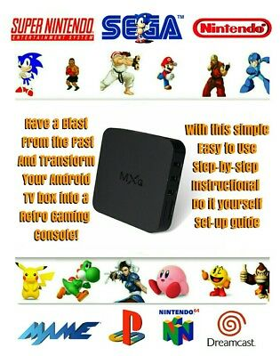 ANDROID SMART TV Box Retro Gamebox Setup Drive 4 Mxq M9S V88 S905X T95X  Lqqk!