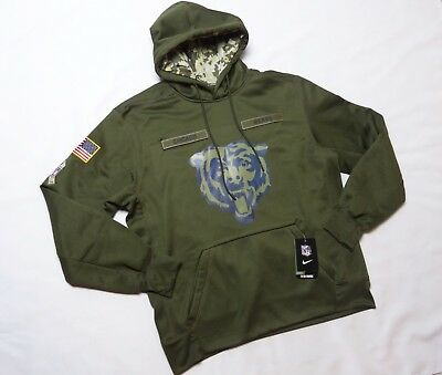2454c4af6 NWT 2017 CHICAGO Bears NFL Nike Salute To Service Hoodie Therma-Fit ...