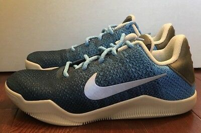 2b04bc4b277f NIKE KOBE 11 XI GS Zoom Youth Shoe Size 5.5Y Brave Blue 822945-424 ...