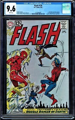 Flash  #129 Cgc 9.6 White Pages 2Nd Golden Age Flash X-Over  #1215093005