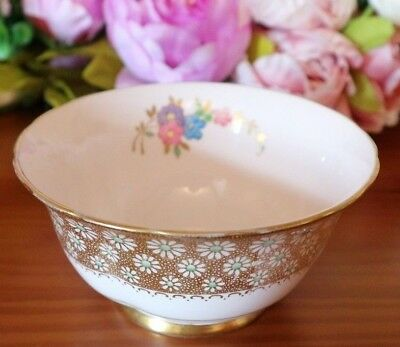 Tuscan China Bands of Gilt Hand Painted with Daisy Decoration Sugar Basin