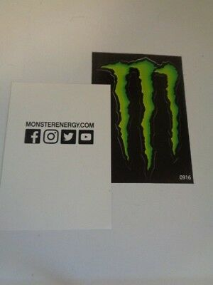 "Monster Energy Decal Sticker- approx.  4-1/2"" wide x 3-1/4""- 2 pcs."