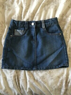 100% high quality info for another chance GIRLS GEORGE ASDA Blue Denim Adjustable Waist Mini Skirt Age 7-8