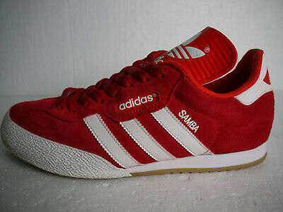 elegant shoes detailed pictures buy cheap ADIDAS ORIGINALS SAMBA Super Red Suede & White Stripes (UK 8 ...