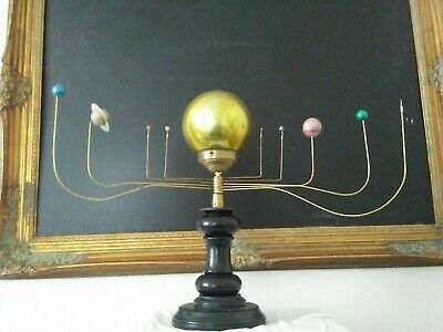 Antiqued Orrery Planetarium By South Carolina Artist, Will S. Anderson
