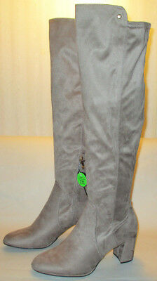 335153d1b43 New Liz Claiborne Leyla Womens 9 M Taupe Soft Over the Knee Chunky Heel  Boots