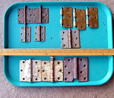 Vintage Mixed lot of Brass Plated Door Hinges (11)