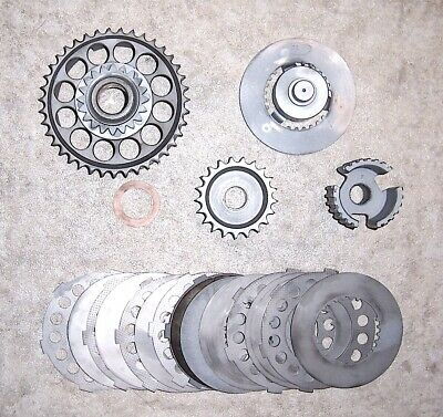 1970s VINTAGE MAICO AW250 CLUTCH ASSEMBLY w/ PLATES, EX/RESTORED/COMP (#DAY32)