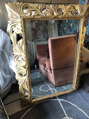 Large Ornate Antique Gold Decorative Mirror