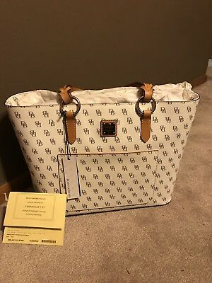 NWT Dooney   Bourke Tammy Tote Blakely Signature Coated Cotton Leather MSRP   268 d9632ee74c53c