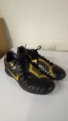 2522814eab1 Men s Rare Nike Total 90 Shift TF Soccer Shoes-Black and Gold-Size 11