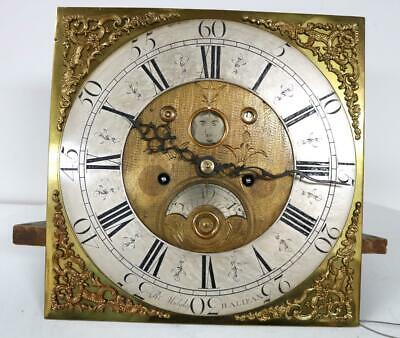 English Halifax 8 Day Longcase Grandfather Movement R Midgley Penny Moon Roller