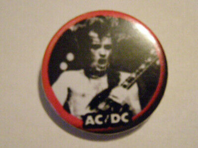 AC/DC Old Vintage Button Pin Badge 32mm