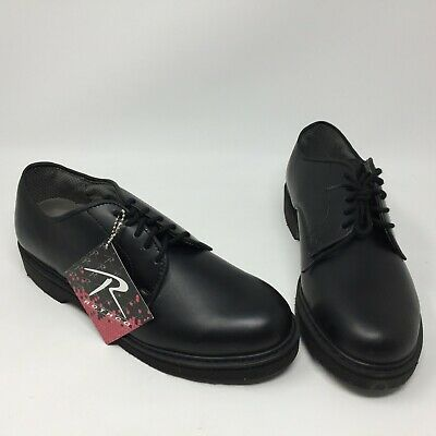 Rothco Soft Sole Uniform Oxford Leather Military Shoes - Black Size 8.5R 704ec4561c2