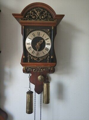 Dutch WUBA Warmink Sallander ZAANDAM Wall Pendulum Clock