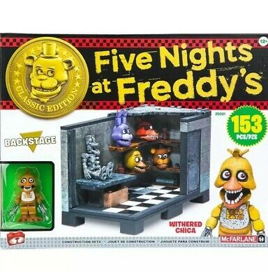 Building Sets McFarlane Toys Five Nights At Freddy's Backstage 153 pcs w/ chica