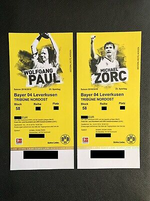 2 Top Tickets BVB Borussia Dortmund Bayer 04 Leverkusen Nordosttribüne Block 58