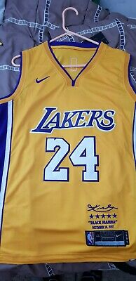 d4c30496539 Kobe Bryant 24 Lakers Nike Retirement Jersey Limited Edition Mens Small  replica