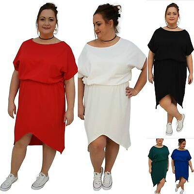 Wolfairy Womens Plus Size Slightly Pleated Jersey Dress Lagenlook Stretchy Party Loose Amazon Fashion