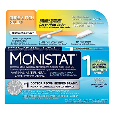 Monistat 1-Day Yeast Infection Treatment   Ovule + Itch Cream Combination Pack