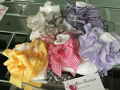 💝School 🎀 Bow Gingham Check School ankle white Socks Jazziejems Boutique ❤️