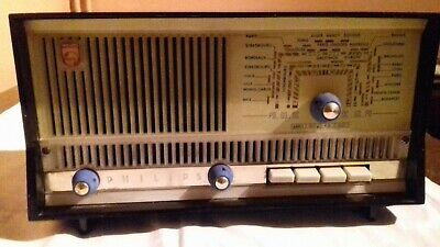ancien poste radio à lampes PHILIPS type B2F90A