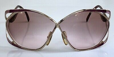 6ade6ae2dce Vintage CHRISTIAN DIOR Sunglasses Gold Butterfly Frame 2056 48 Made In  Austria