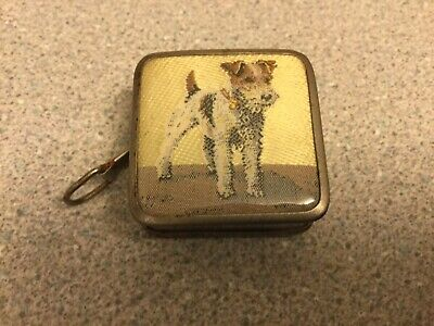 Vintage Terrier Dog Designe retractable Miniature Tape Measure Sewing