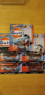 Hot Wheels 2019 Car Culture Gulf Series Complete Set All 5 Free Shipping
