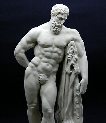 Farnese Hercules Heracles Greek Cast Marble Sculpture Statue Museum Copy 13in