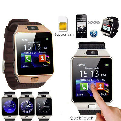 DZ09 Bluetooth Smart Watch Phone Mate GSM SIM For Android iPhone Samsung HTYEGD