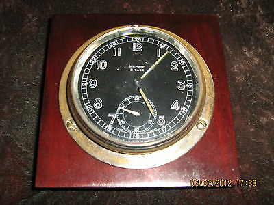 Zenith 8 Days,bezel winding&setting deck clock,red winding alert,30/40y of XXc