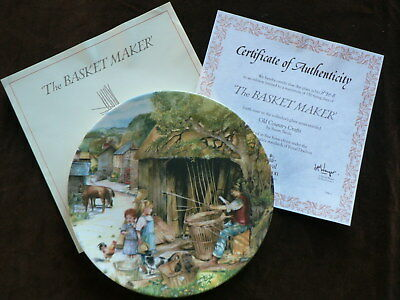 Royal Doulton Old Country Crafts Collector Plate, The Basket Maker