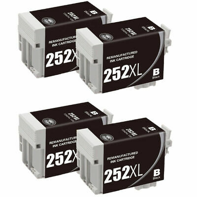 14Pk Reman Cartridges for Epson Ink 252 XL WorkForce WF-7610 WF-7620 252XL