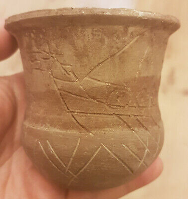VERY RARE Pottery Celtic Cup , Ship  circa 500-300 BC.