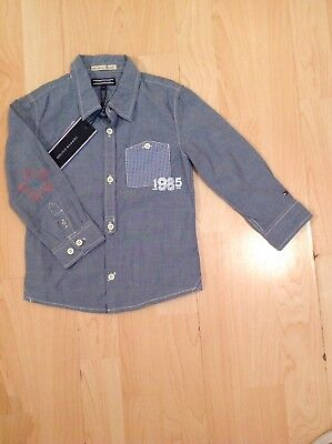 Tommy Hilfiger Boy's Chambray Cowboys Style Shirts For 12-18 Months BNWT