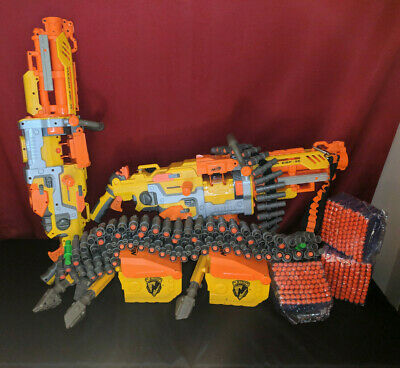 Huge Nerf Vulcan EBF-25  Lot Automatic Darts Gun N-Strike Tripod Attachments