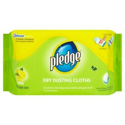 Pledge Dry Dusting Cloths Citrus 20 Per Pack - Pack of 2