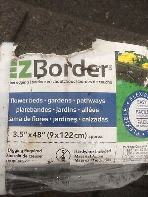 Garden Edging Lawn Border. 5 X 1.2m  6m Pack. 9cm Tall. Recycled