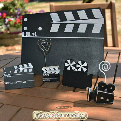 Cinema camera clap theme hollywood fete anniversaire dragees bapteme mariage com