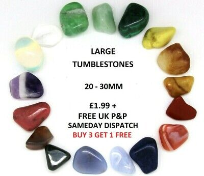 Crystals Large Tumblestones Semi Precious Polished Reiki Gem 20-30mm x1