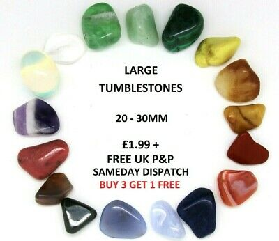 Healing Crystals Large Tumblestones Semi Precious Polished Reiki Gem 20-30mm x1