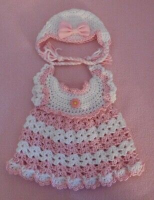 """Wellie Wishers Clothes Pink White Dress & Hat Fits American Girl Wellie 14.5"""""""