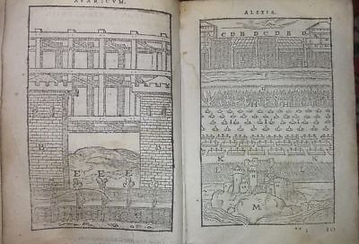Libro Illustrato 1582 G. Cesare De Bello Rerum Ab Se Gestarum Commentari