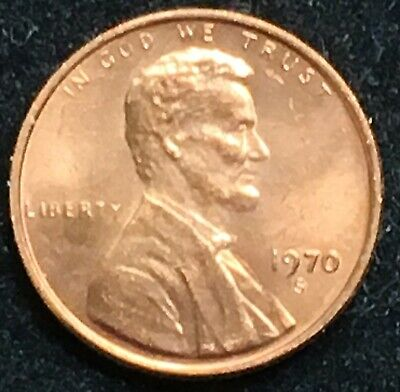 Gorgeous Gem BU Red 1970-S Small Date  Lincoln Cent.  Nice Sharp High Grade!