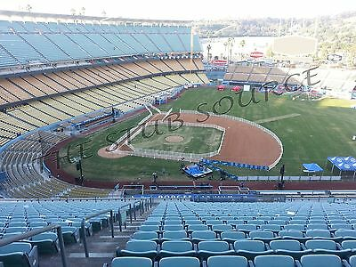 2 SF Giants vs Los Angeles Dodgers 4/2 Tickets FRONT ROW 14RS Dodger Stadium
