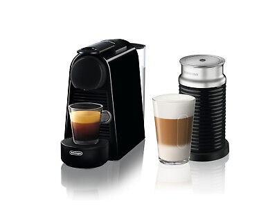 Nespresso Essenza EN85BAE Espresso Machine with Aeroccino By delonghi, black