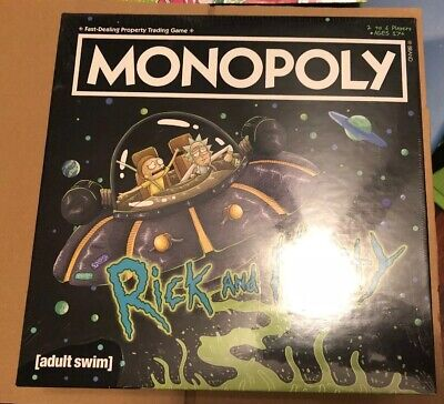 Monopoly Rick and Morty Exclusive GAMESTOP Containing 7 Collectible Tokens NEW