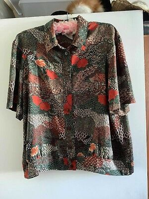 The Dress Company By Stitches Skirt And Button Up Shirt Set Retro Vintage 16